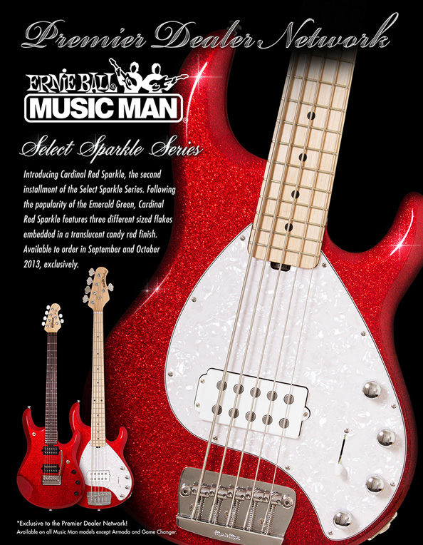 Music Man PDN Cardinal Red Sparkle Limited Edition