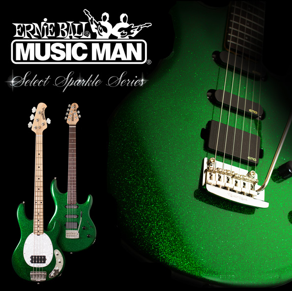 Music Man PDN Emerald Green Sparkle Limited Edition
