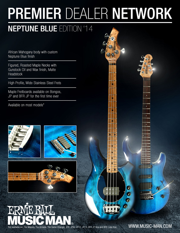 Music Man PDN Neptune Blue Limited Edition