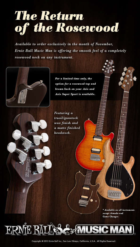 Music Man The Return Of The Rosewood Neck Promusictools