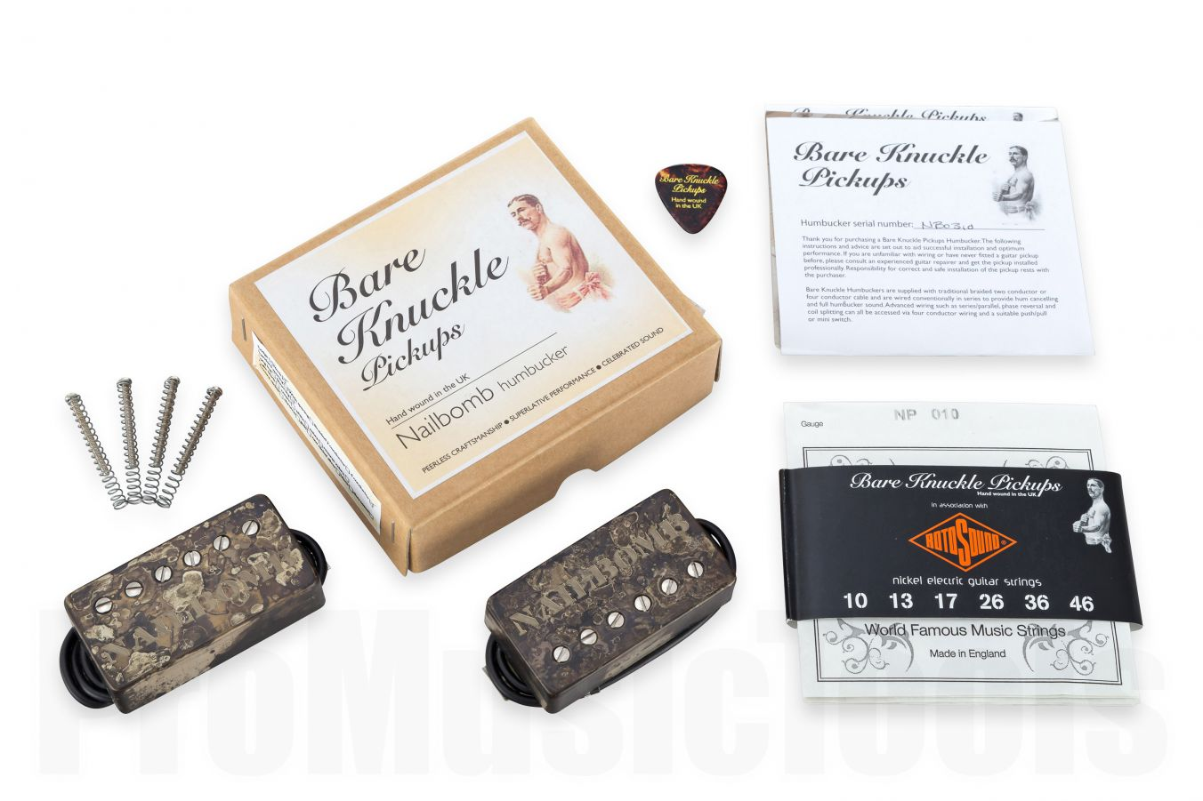 Bare Knuckle Pickups Nailbomb Calibrated Covered Set - Distressed