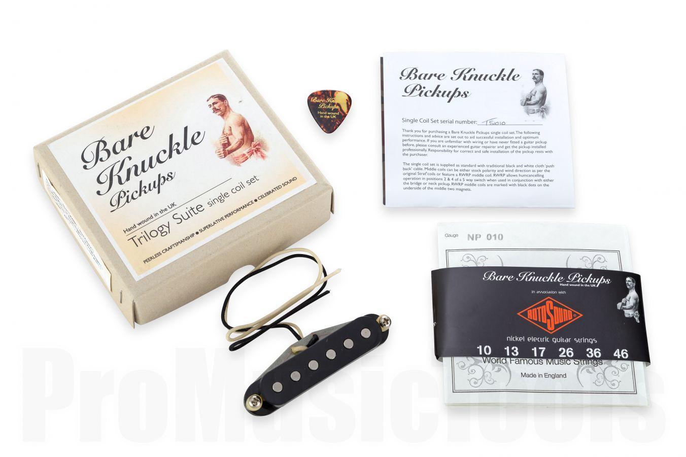 Bare Knuckle Pickups Trilogy Suite Neck - Black