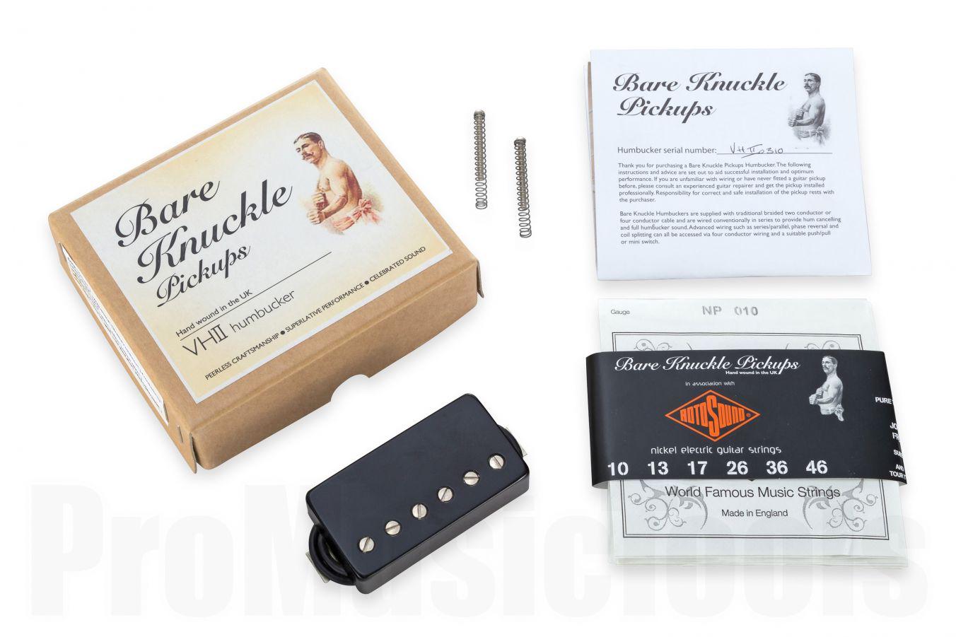 Bare Knuckle Pickups VH-II Wide Spacing- Open Black