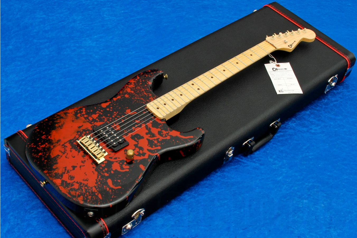 Charvel USA Custom Shop Grover Jackson Legacy Series Strat - Blood Splatter RB