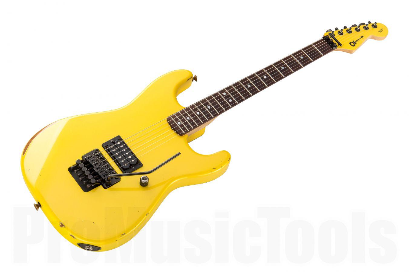 Charvel USA Custom Shop Strat - Aged Yellow Gold Pearl MH