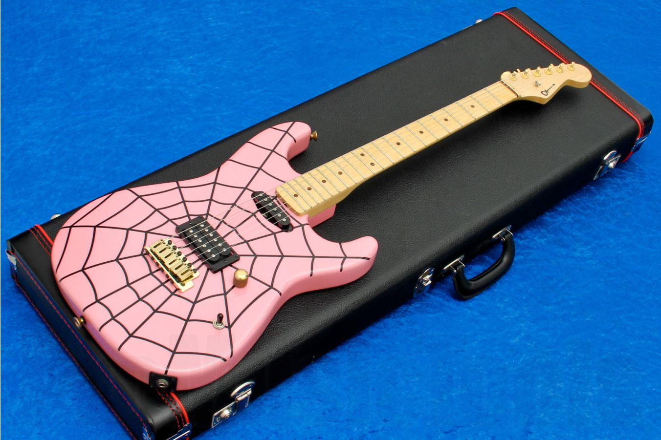 Charvel USA Custom Shop Grover Jackson Legacy Series Strat - Pink Spider Web