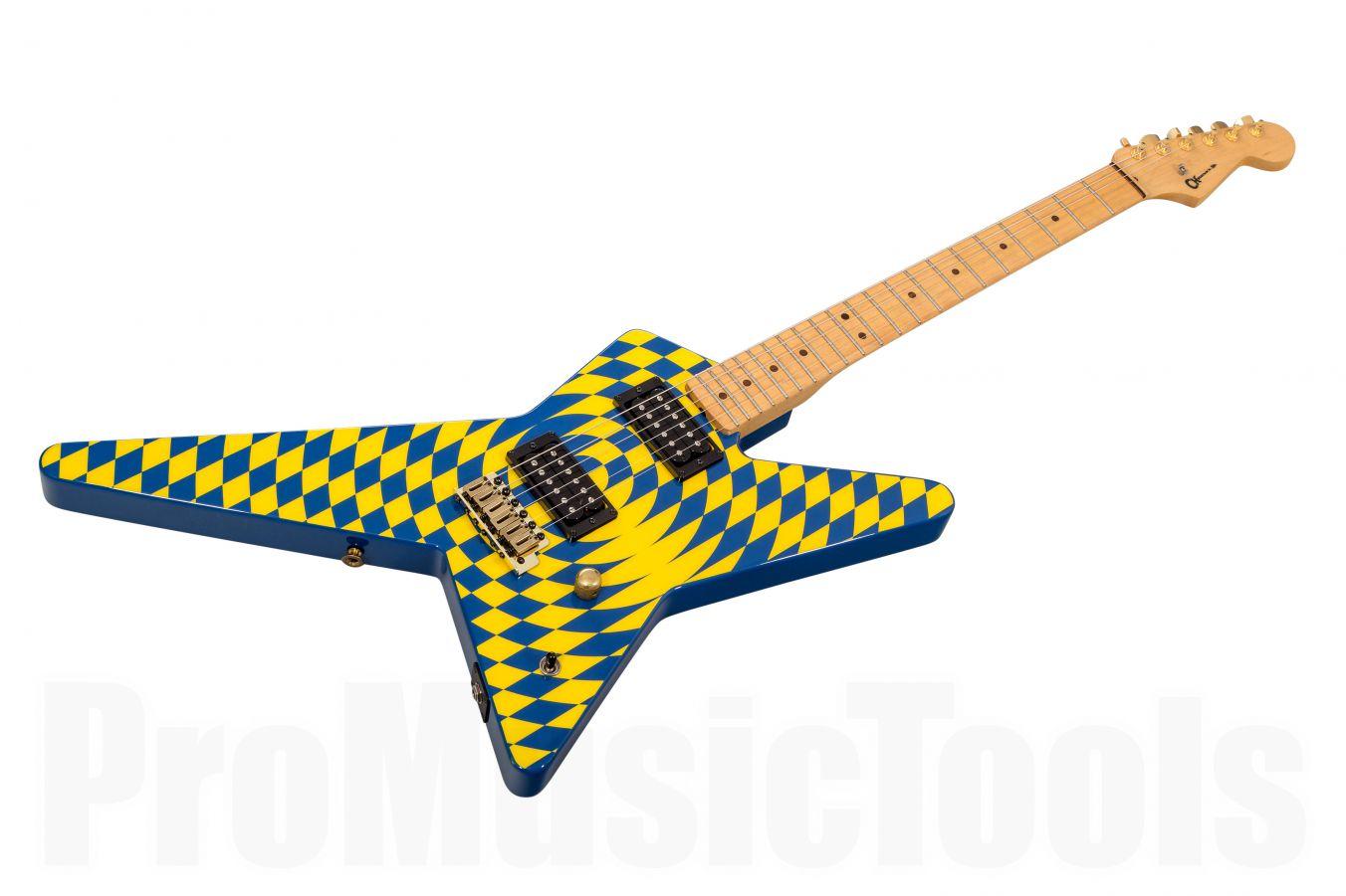Charvel USA Custom Shop Grover Jackson Legacy Series Star 2H - Spiral Checkerboard PV