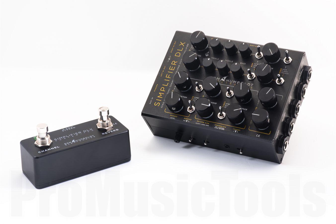 DSM & Humboldt Simplifier Deluxe - 0 Watt Dual-Channel Stereo Amplifier & Cab Simulator w/ Stereo Reverb