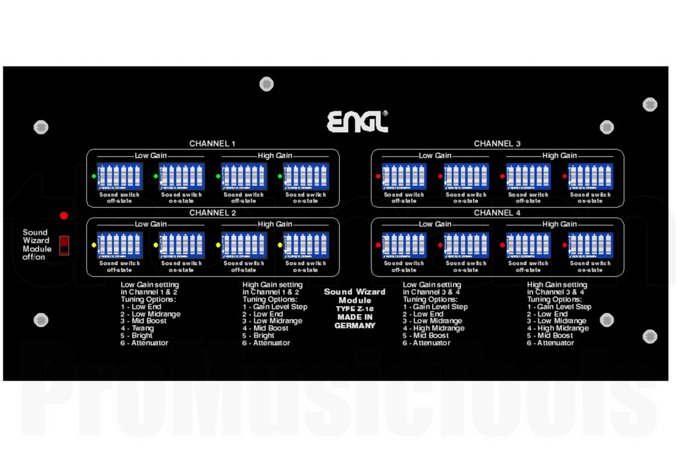 Engl Z16 Sound Wizard Module f. Invader II 100/2 E642/2