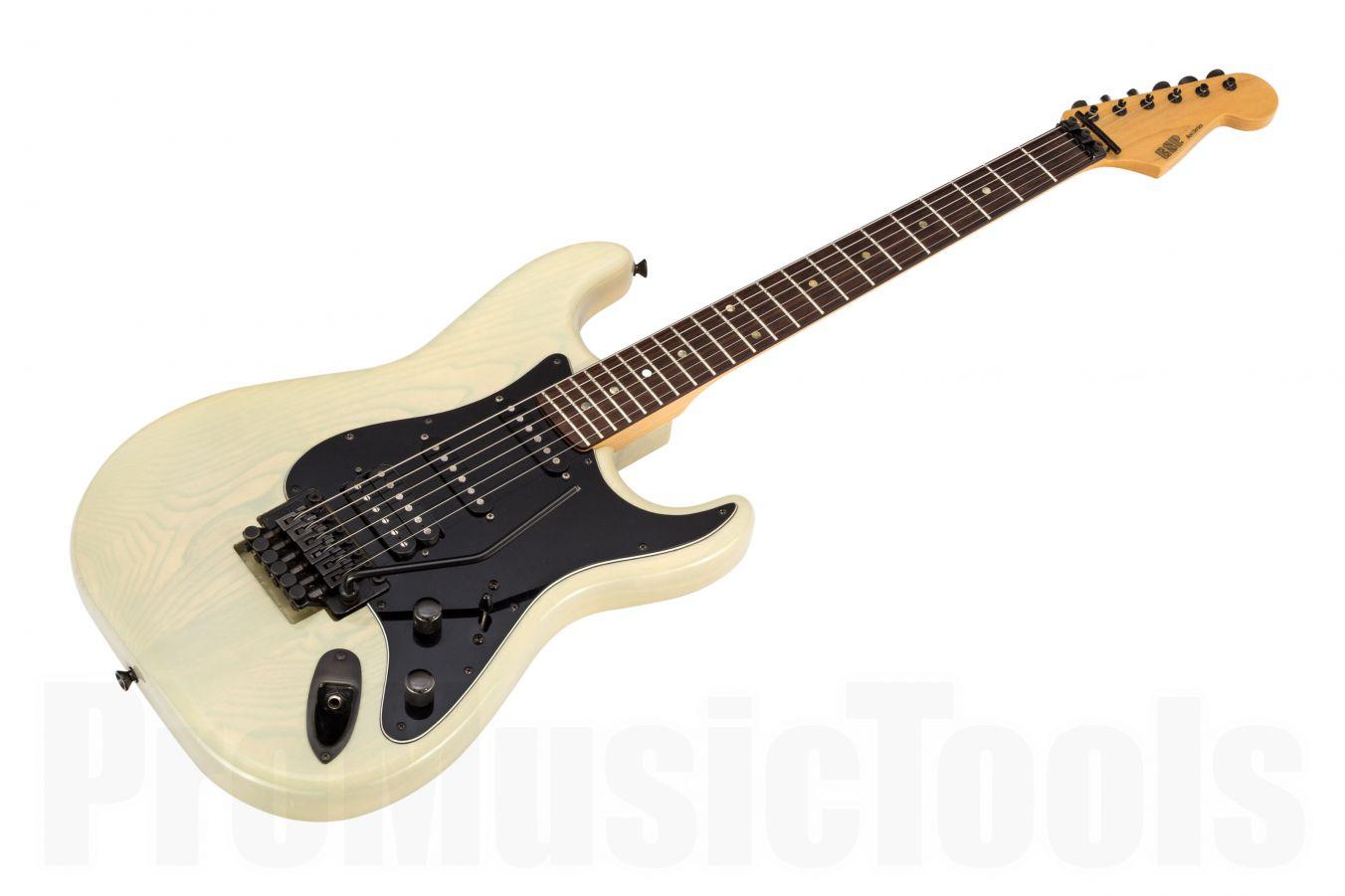 ESP 800 Series Custom Strat HSS FR STW - See Thru White