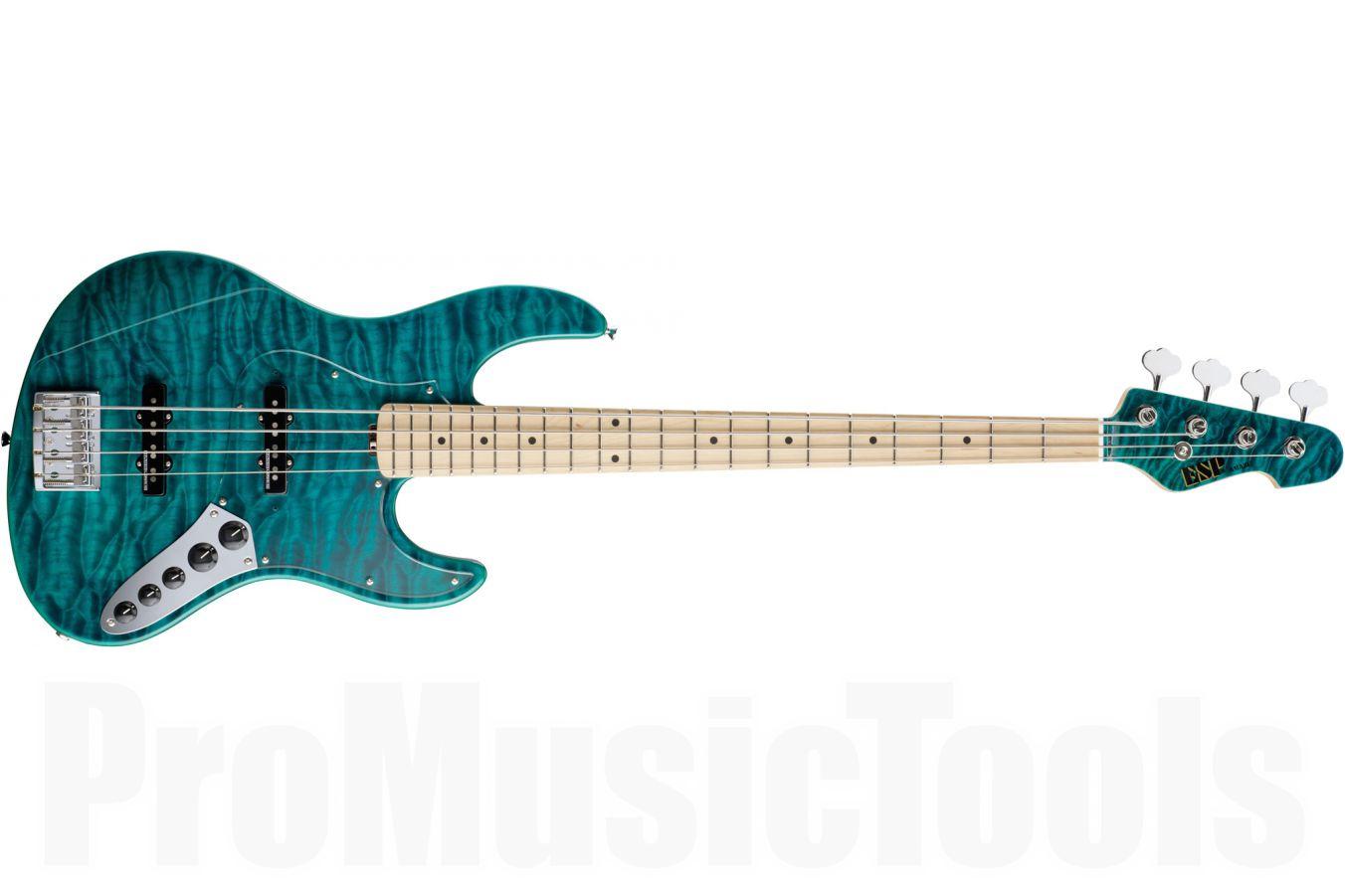 ESP Amaze-DLX 4 BKTQ - Black Trans Aqua