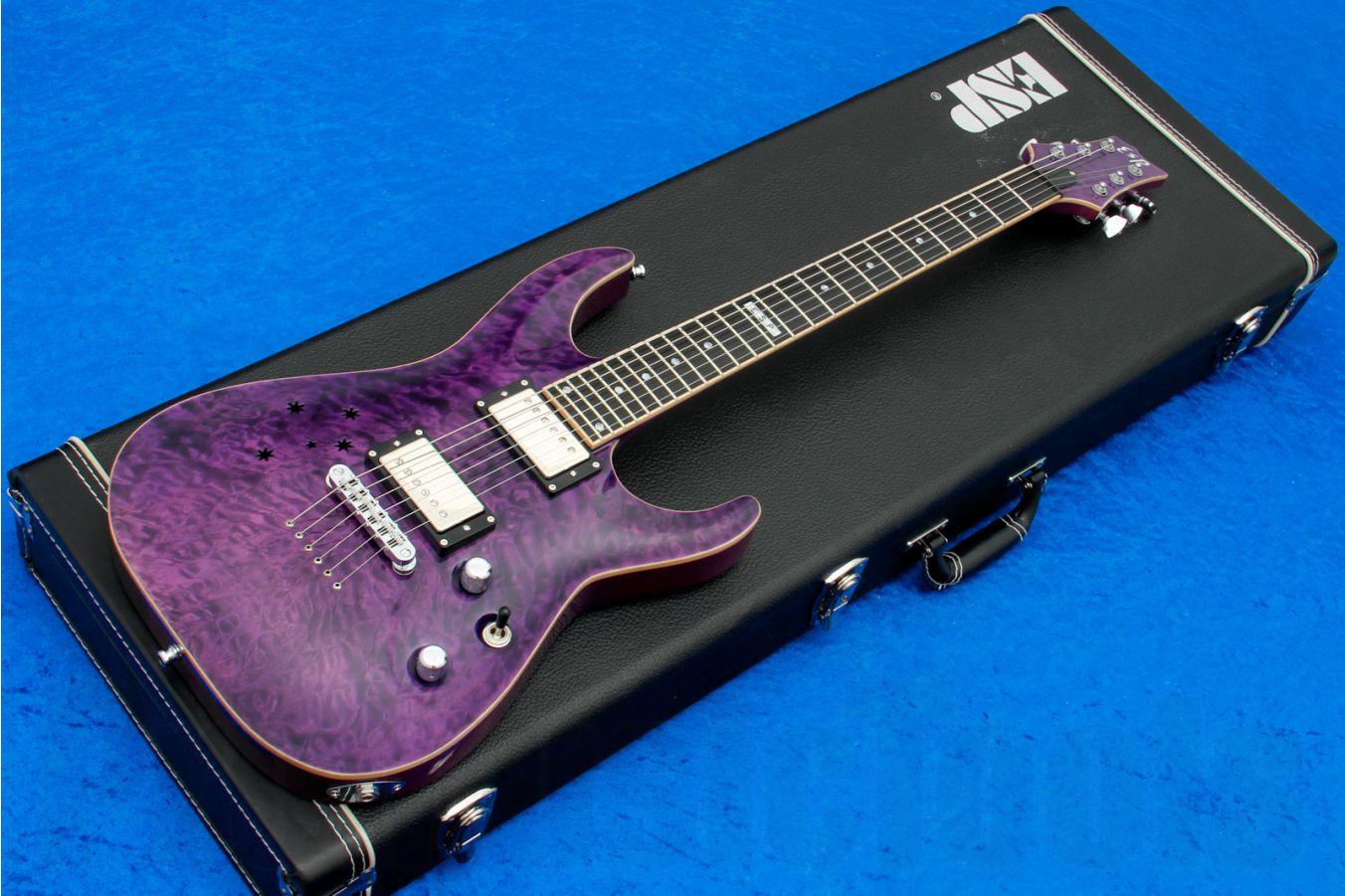 ESP Horizon NT Brett Garsed Signature 'Southern Cross' STPR - See Thru Purple