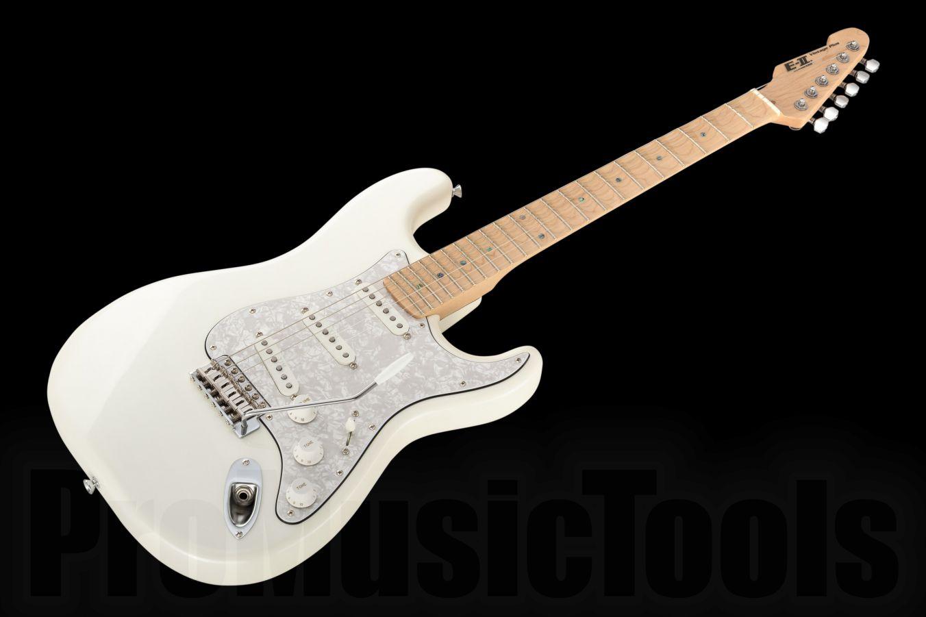 ESP E-II Vintage Plus /M SC Scalloped PW - Pearl White
