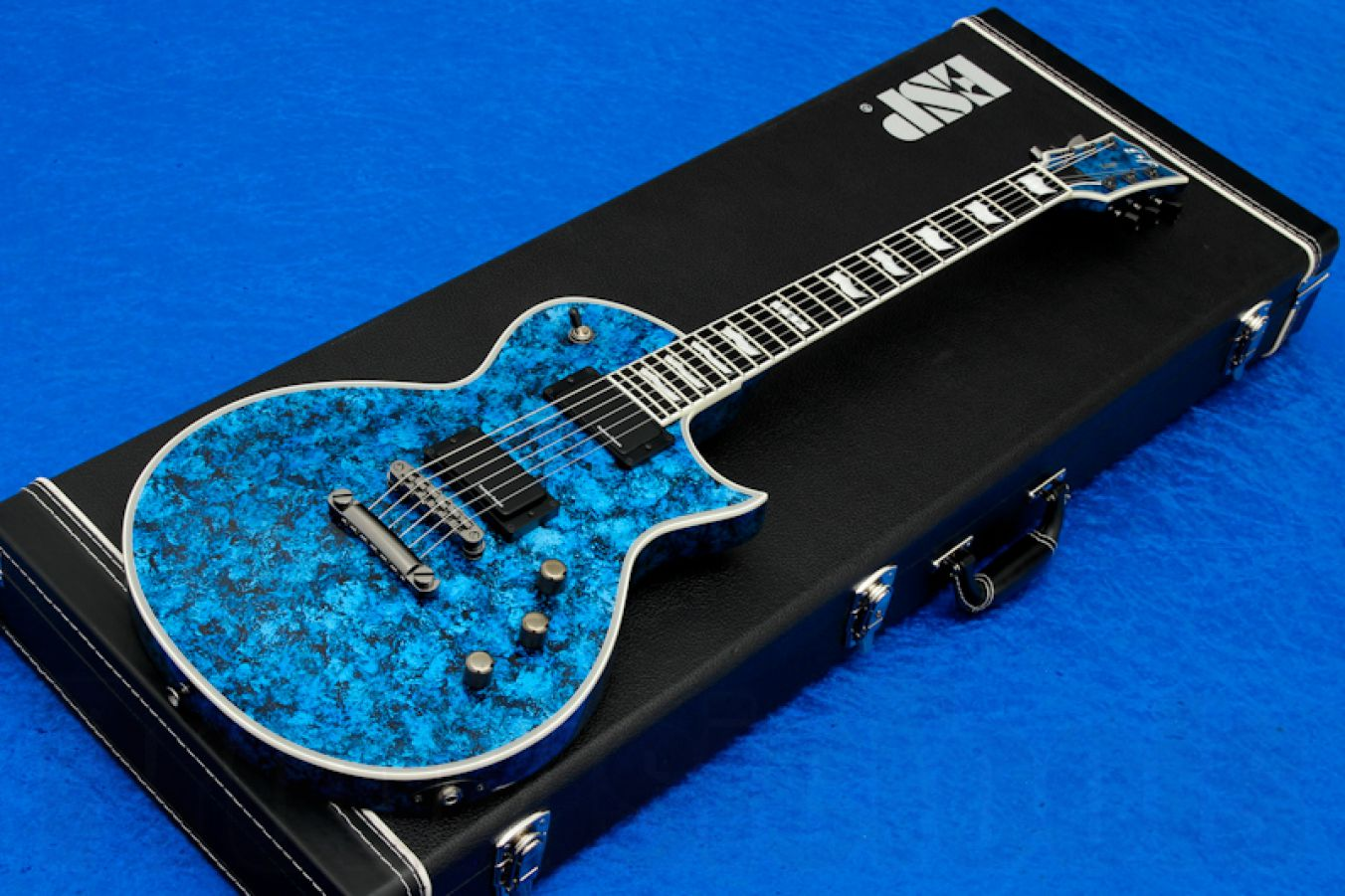 ESP Eclipse-II USA Special Edition - Planet Blue