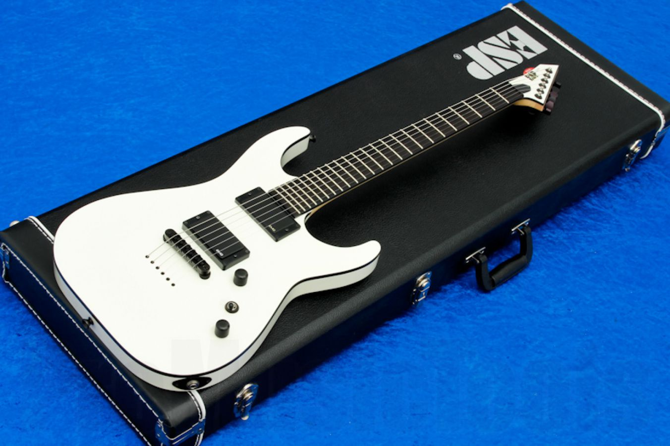 ESP Horizon NT WH CS - White w/ black bindings -  Custom Shop