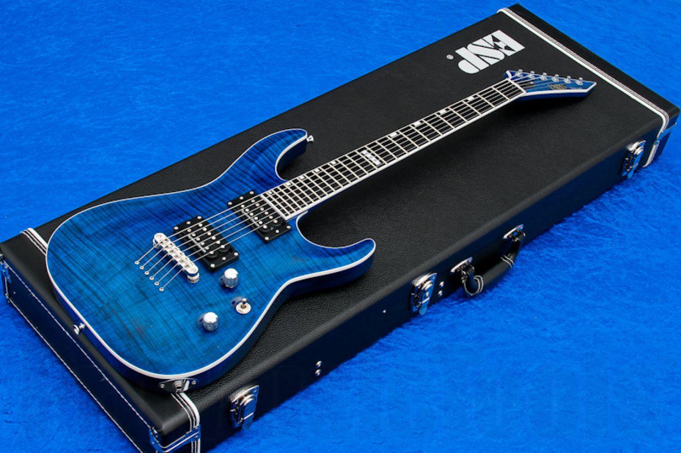 ESP Horizon NT-II FM SD BKAQ - Black Aqua