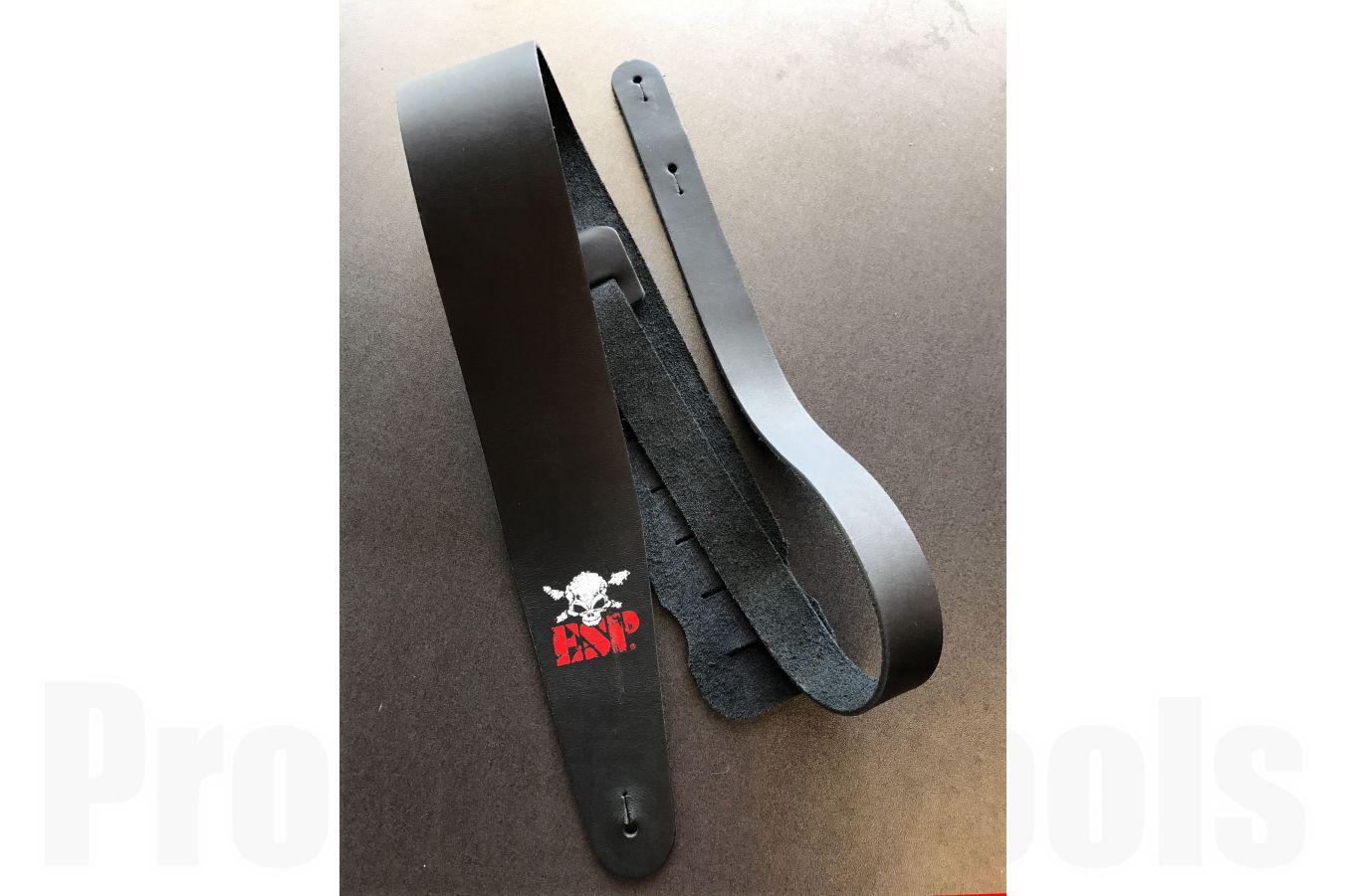 ESP ES-S-38W BK Leather Strap - Black & Skull Logo