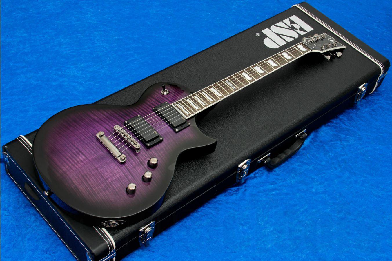 ESP Ltd Eclipse EC-330FM STPSB - See Thru Purple Sunburst