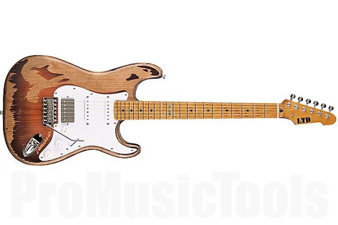ESP Ltd GL-256 Distressed 2-Tone Burst - George Lynch Signature - b-stock