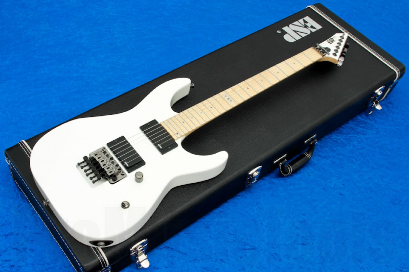 ESP M-II Neck-Thru SW - Snow White & Maple Fretboard - Special Edition
