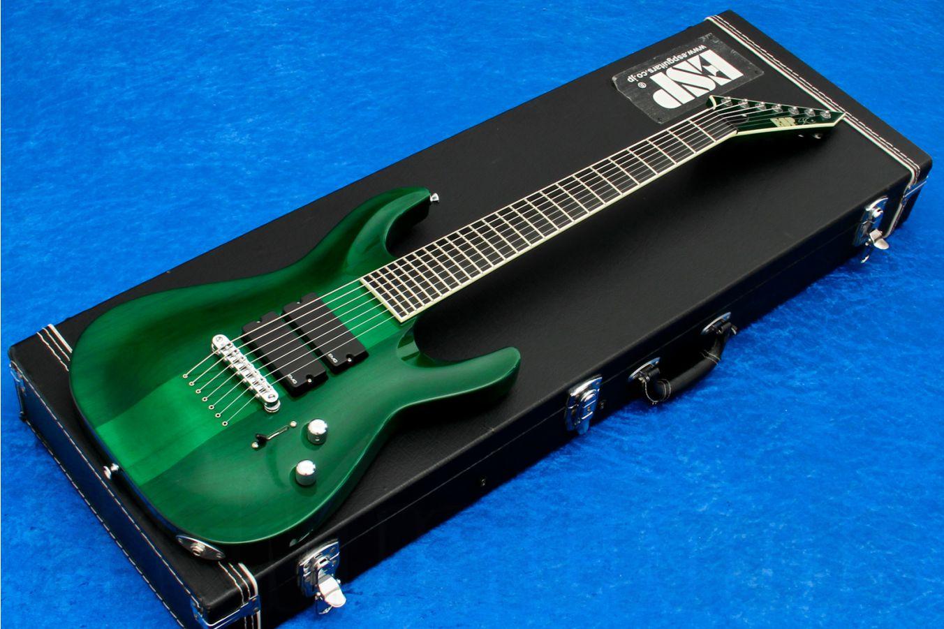 ESP Stephen Carpenter STEF-7 CS STG - See Thru Green - Custom Shop