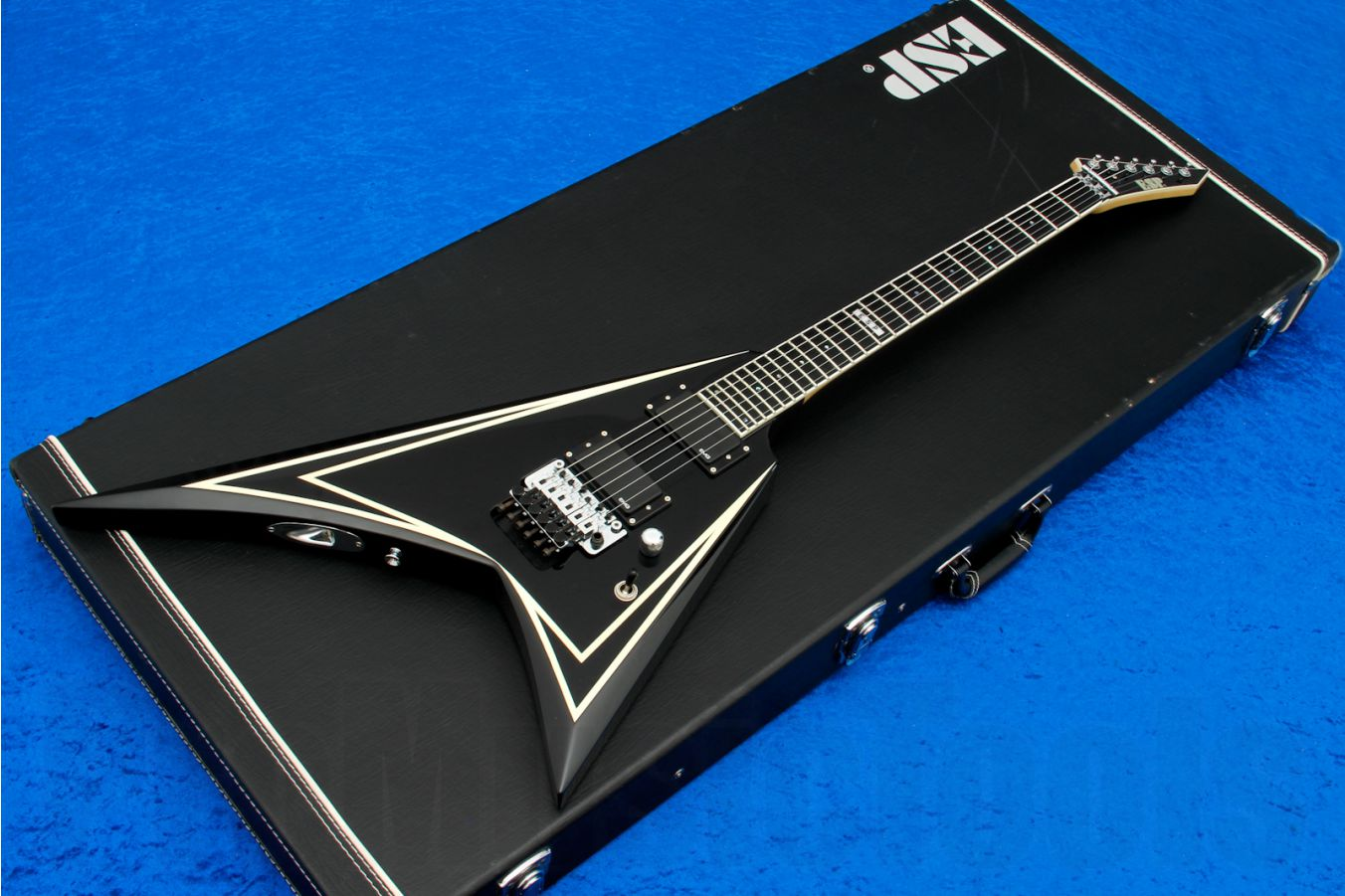 ESP SV-STD BK - Black w/ White pinstripes s/h