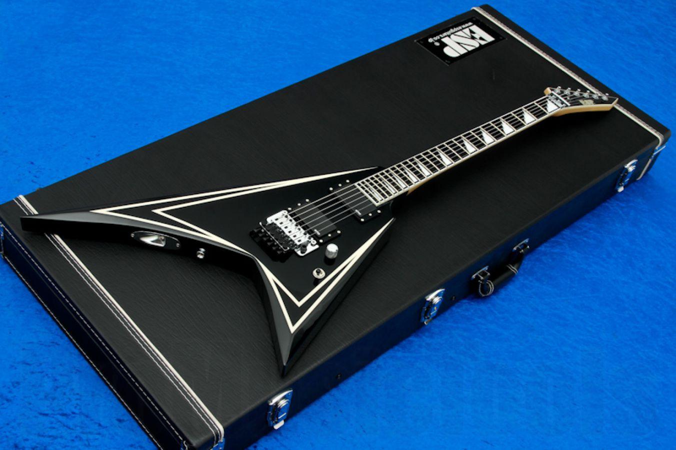 ESP SV-STD BK - Black w/ White pinstripes - Sawtooth