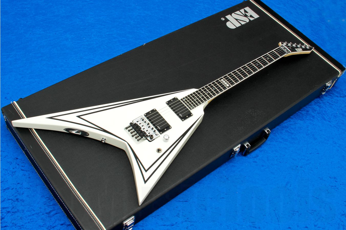 ESP SV-STD WH - White with Black pinstripes s/h