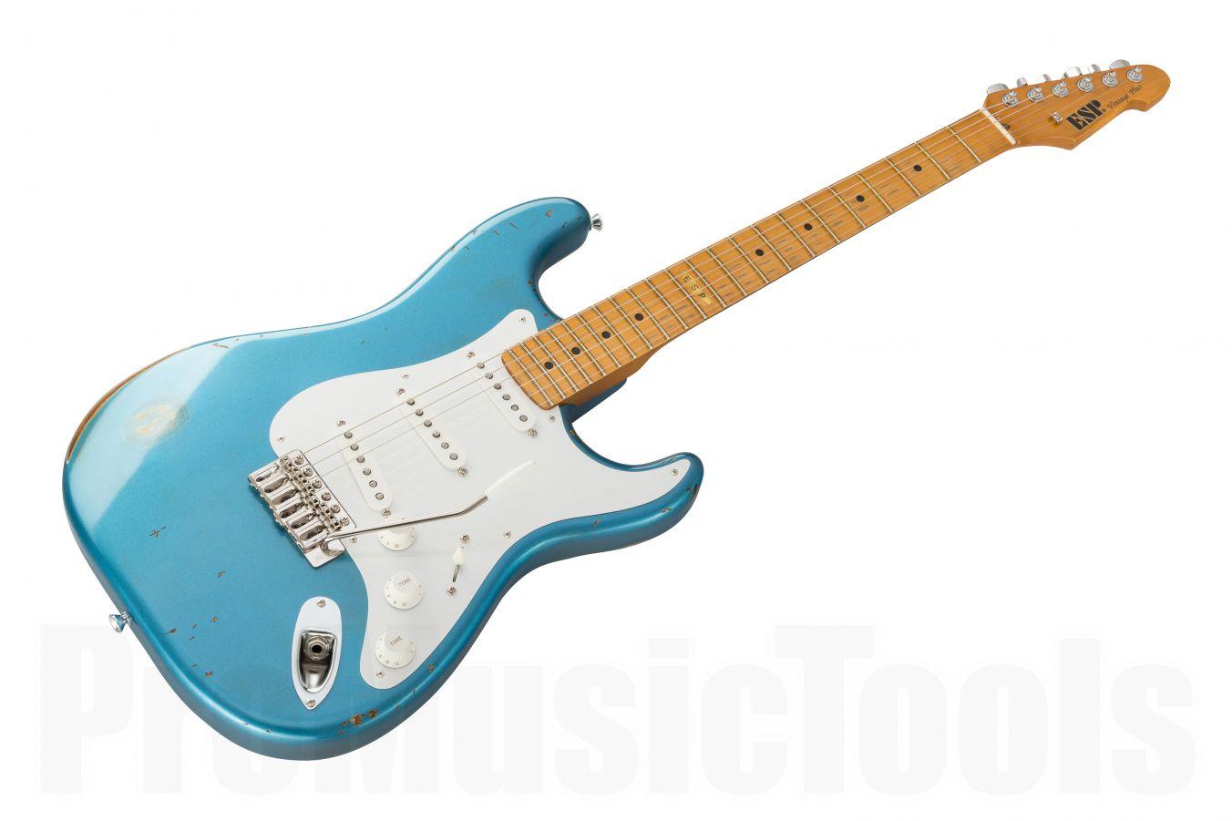 ESP Vintage Plus/M Distressed LPB - Lake Placid Blue - Special Edition