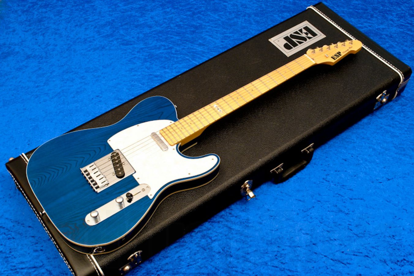 ESP Vintage Plus T STB - See Thru Blue - Custom Shop