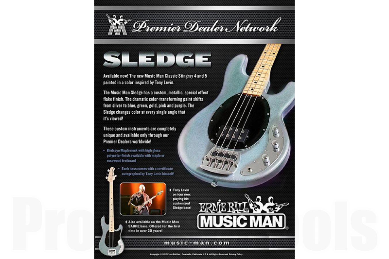 Music Man USA Classic Sabre 4 SL - PDN Sledge Limited Edition RW