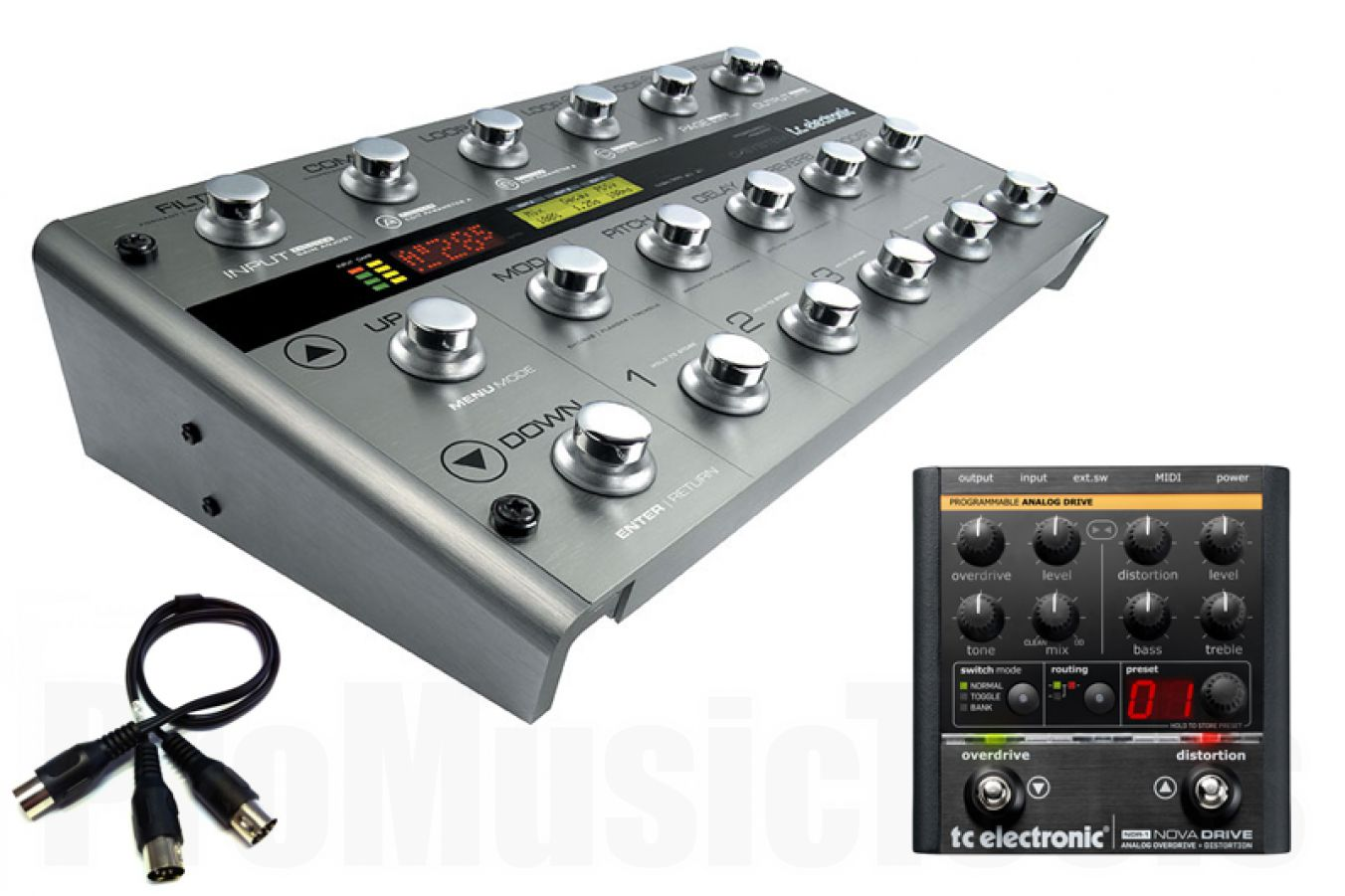 TC Electronic G-System iB Modified Silver Ultimate Bundle incl. Nova Drive, Split & Ethercon Cables