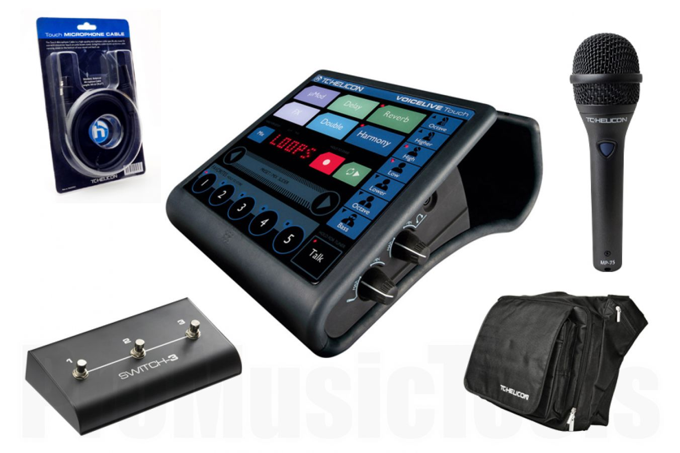 TC Helicon VoiceLive Touch Ultimate Gig Bundle incl. MP-75, Switch-3, mic cable, gigbag