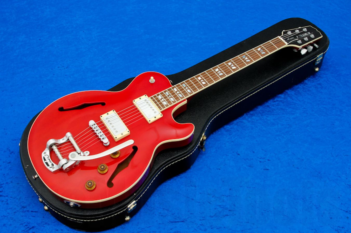 Hamer USA Monaco Custom Bigsby red