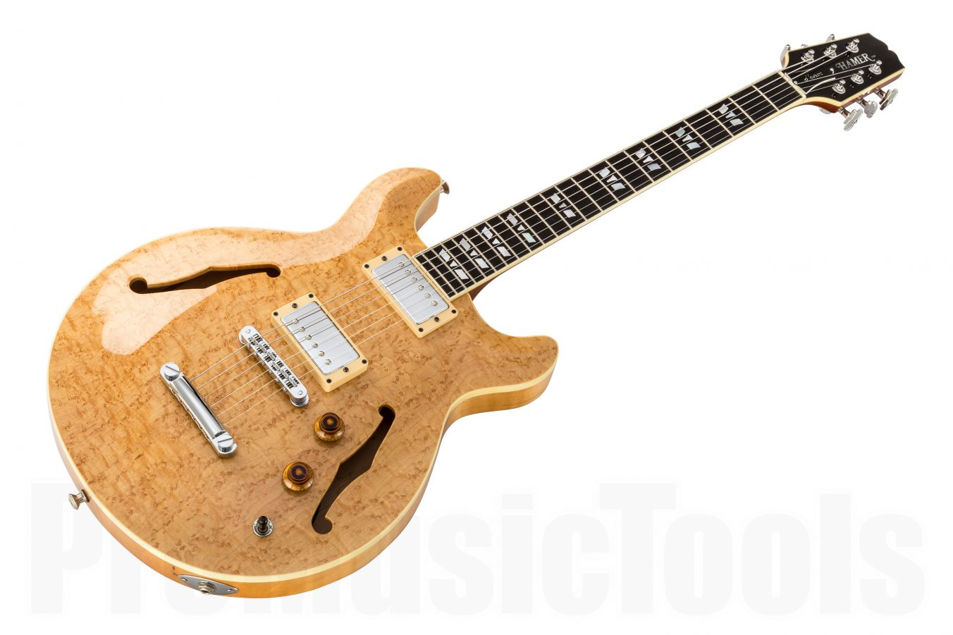 Hamer USA Newport Pro Custom Shop - Natural w/ Birdseye Maple & Ebony