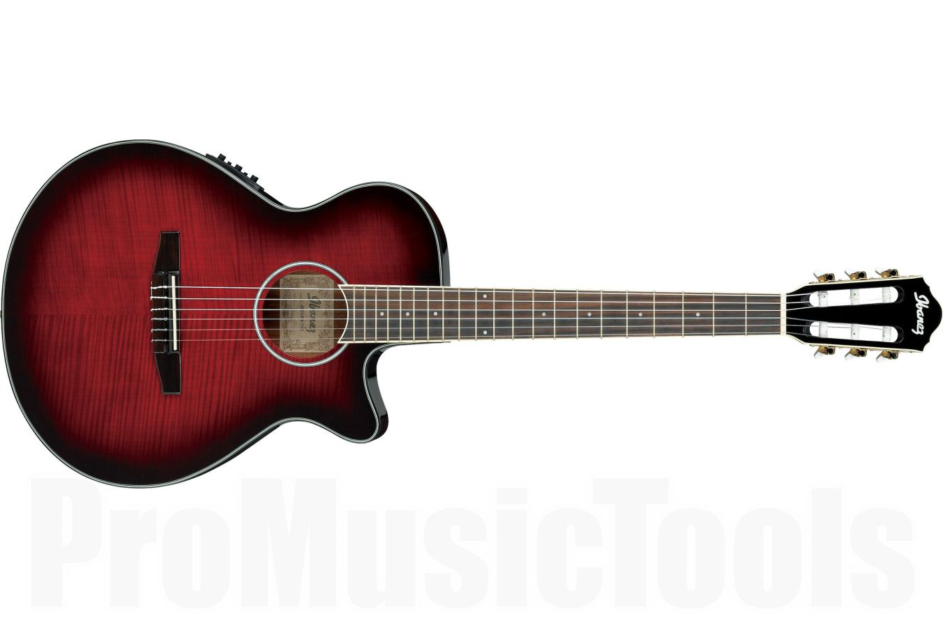 Ibanez AEG24NII THS - Transparent Hibiscus Red Sunburst