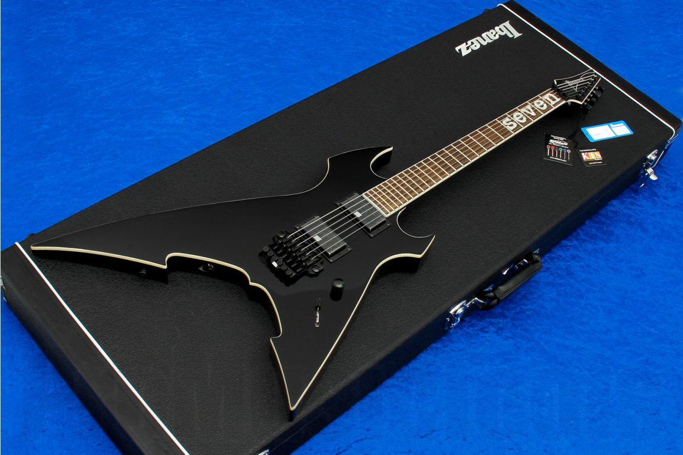Ibanez MTM100 BK Prestige - Black  - Mick Thomson Signature - b-stock (1x opened box)
