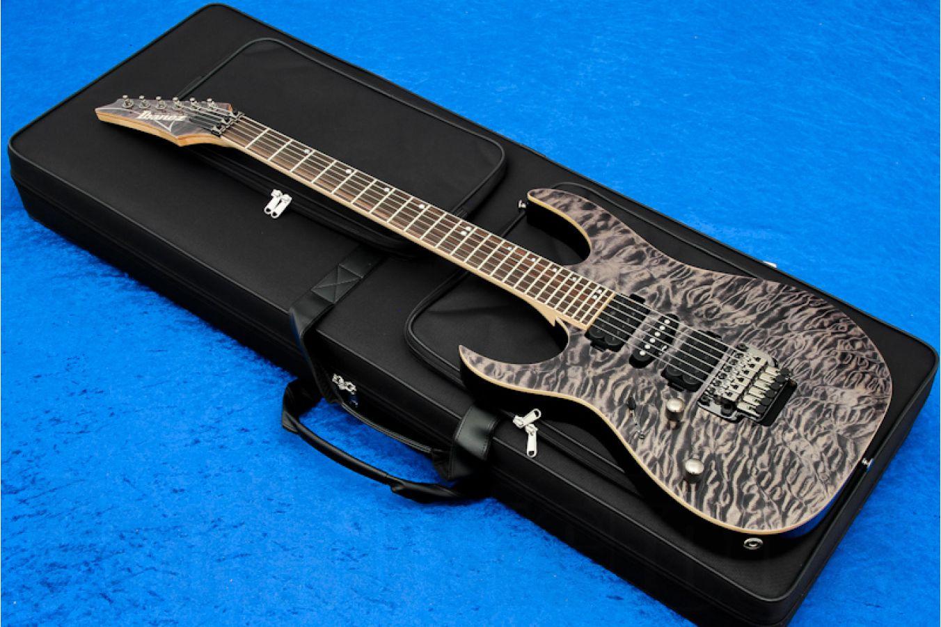 Ibanez RG870QMZL BI Premium - Lefthand - Black Ice