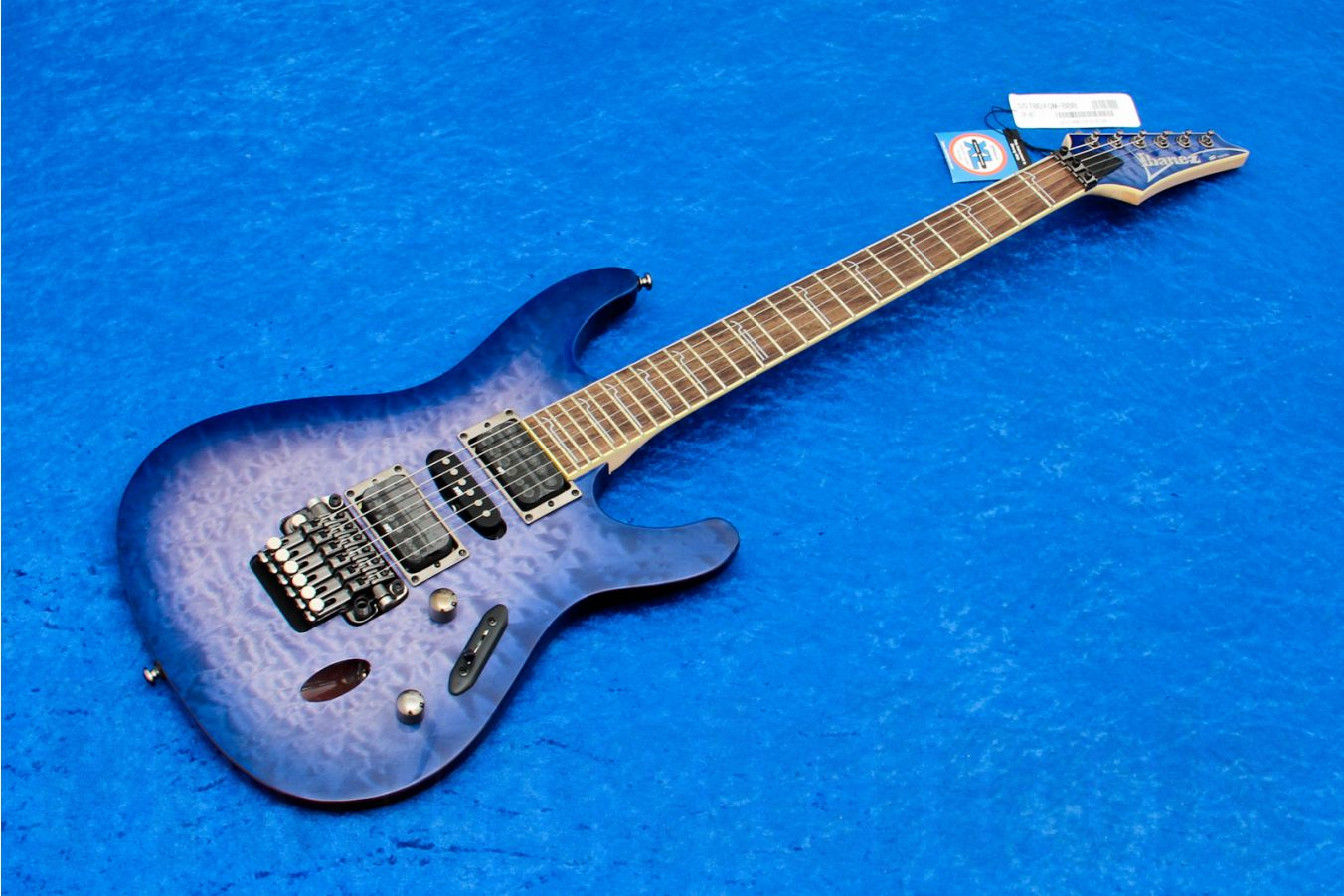 Ibanez S570DXQM BBB - Bright Blue Burst - b-stock (1x opened box)