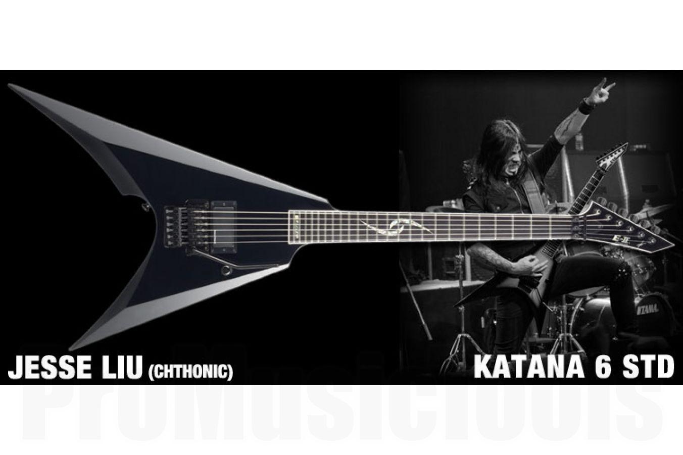 ESP E-II Jesse Katana 6 BK - Black