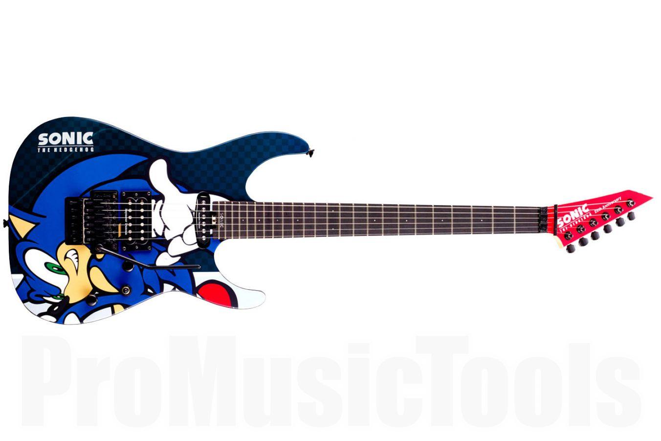 esp ltd sn 25th sonic the hedgehog guitar ii limited edition promusictools. Black Bedroom Furniture Sets. Home Design Ideas