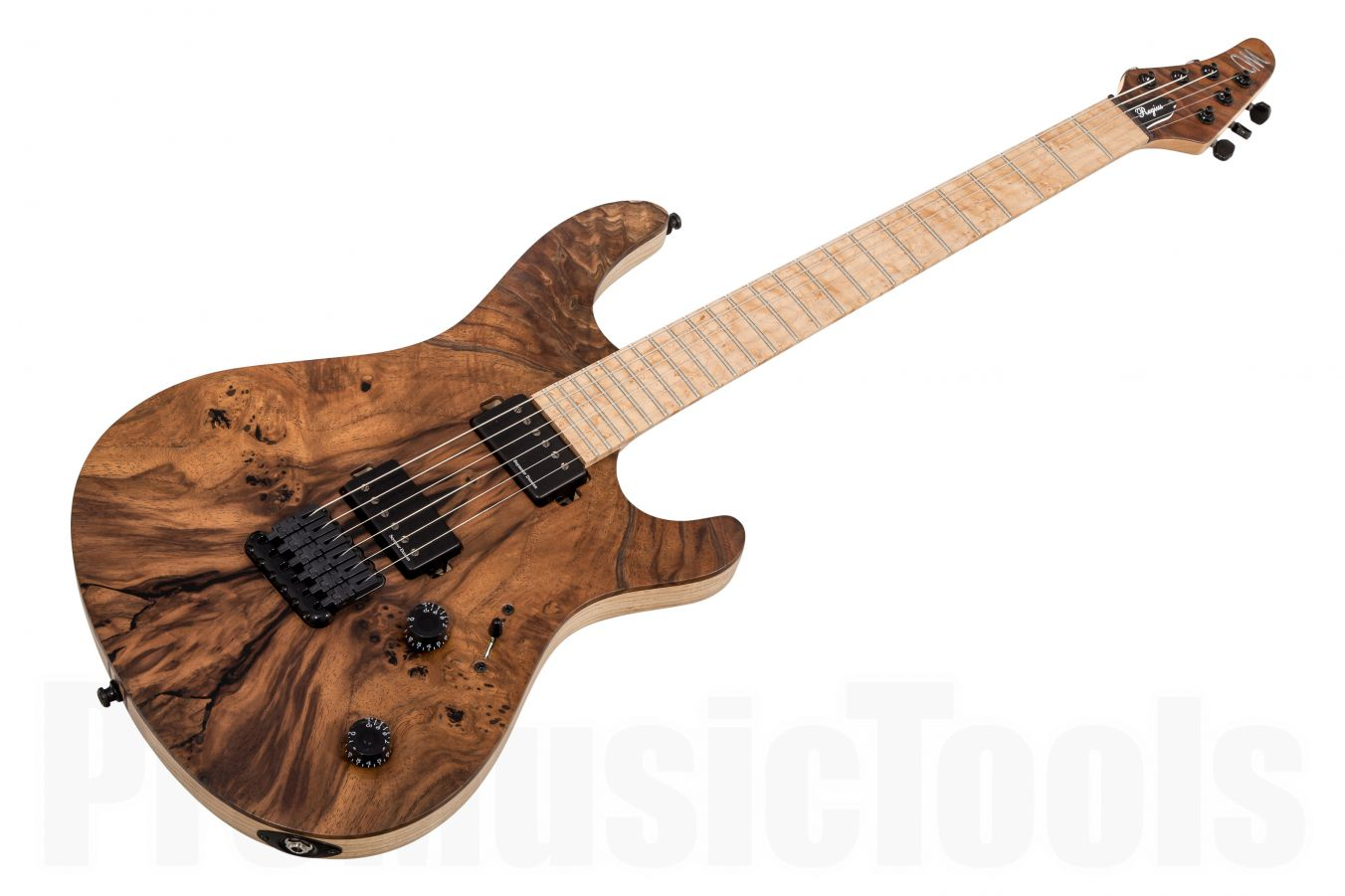 Mayones Regius 6 Custom Shop Burl Walnut - Trans Natural Matt - Birdseye Maple
