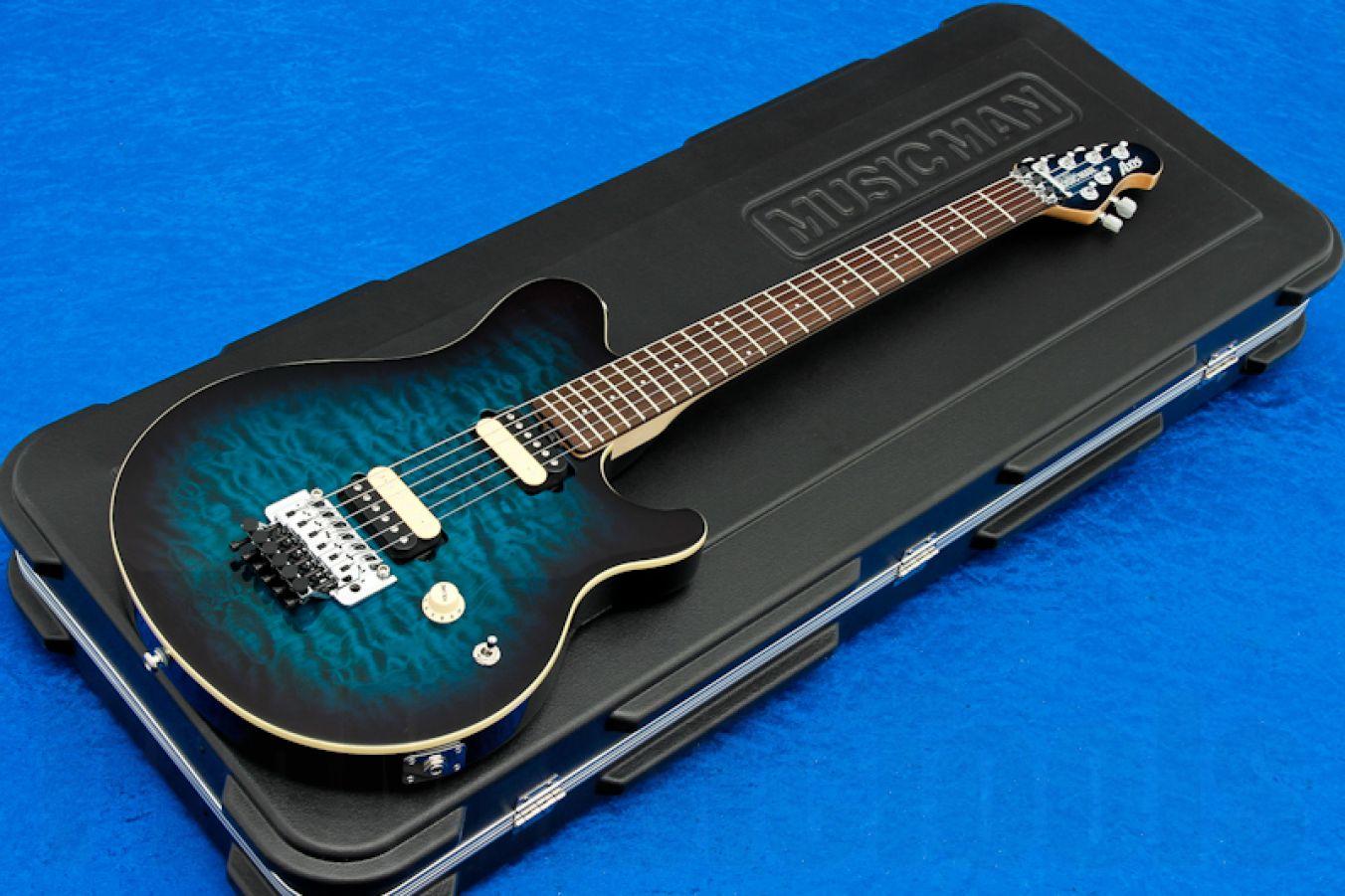 Music Man USA Axis PBB - Pacific Blue Burst RW MH