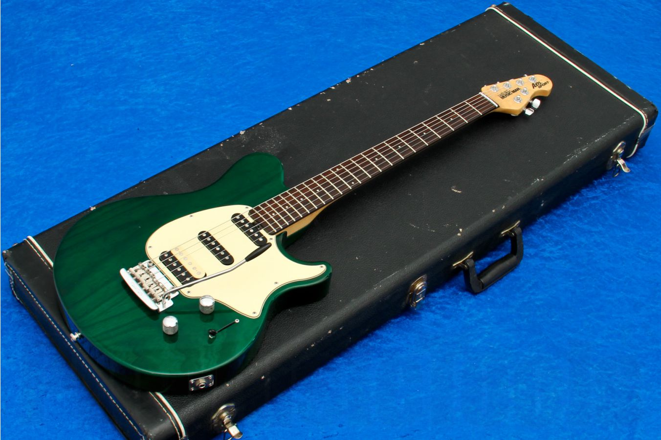 Music Man USA Axis Sport HSS Trem TGN - Translucent Green RW