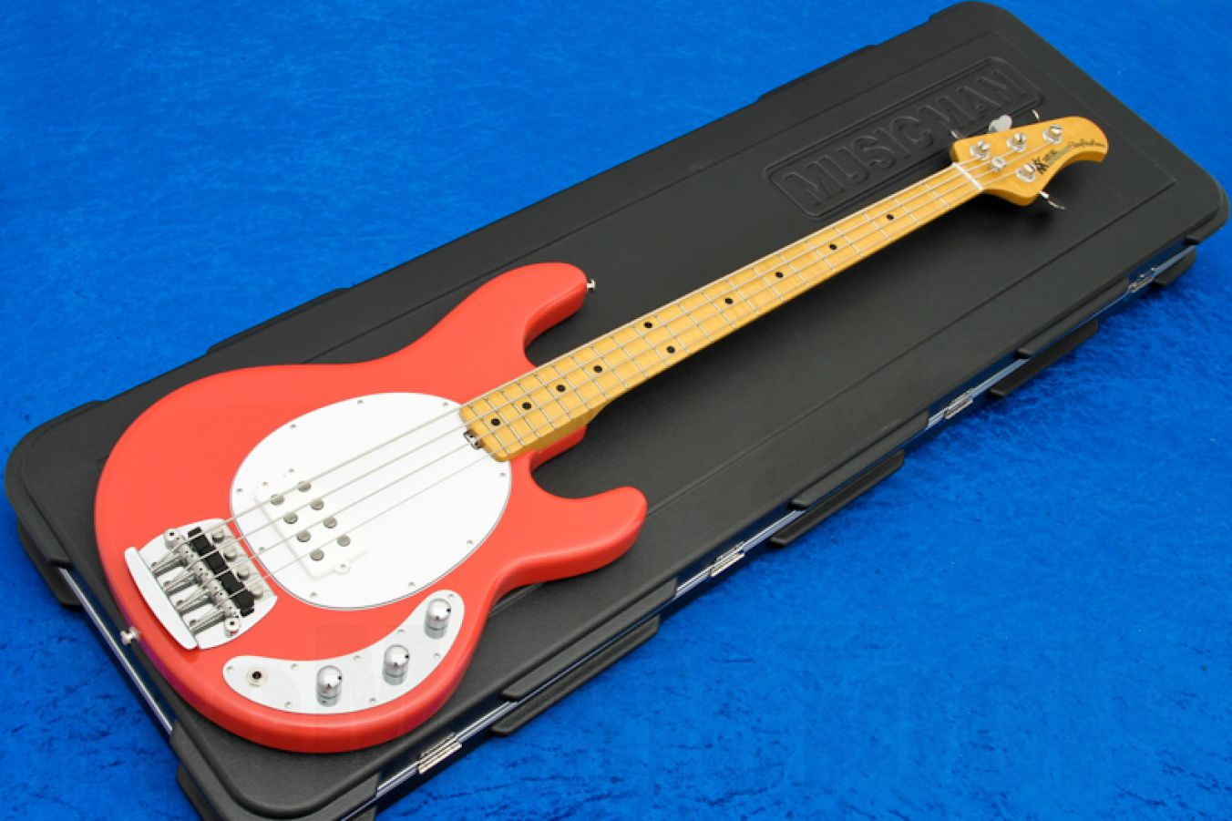Music Man USA Classic Stingray 4 CRD - Coral Red MN Flame