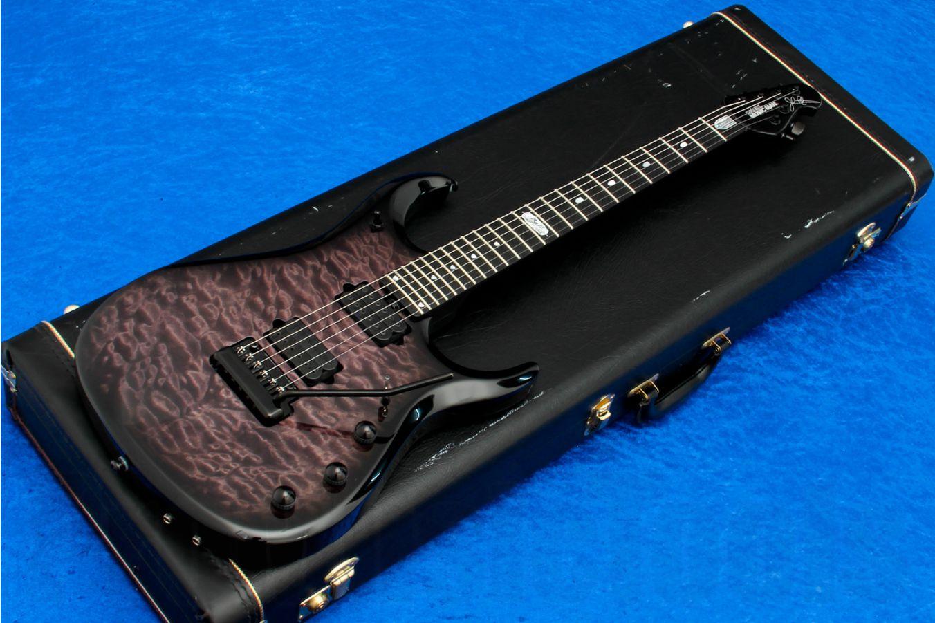 Music Man USA John Petrucci JP6 BFR QT BKB - Black Burst Quilt Limited Edition - Ebony FB & black HW