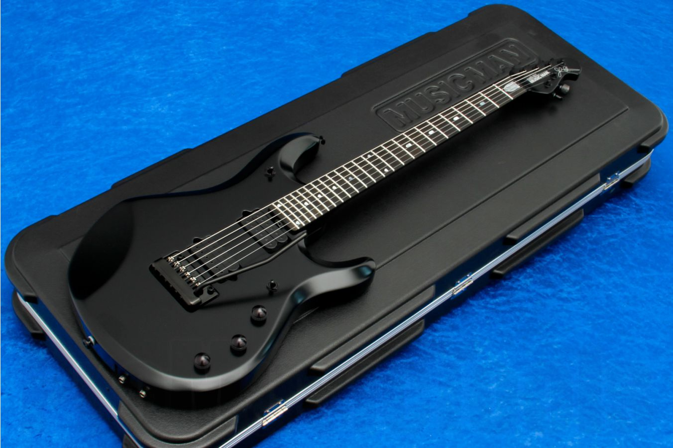 Music Man USA John Petrucci JP6 Piezo SBK - Stealth Black - JP Inlays