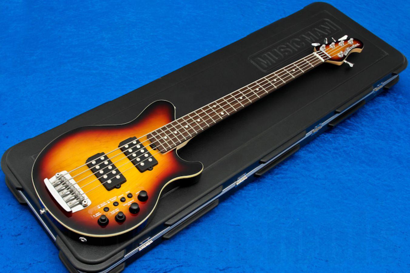 Music Man USA Reflex 5 HH Bass VSB - Vintage Sunburst RW