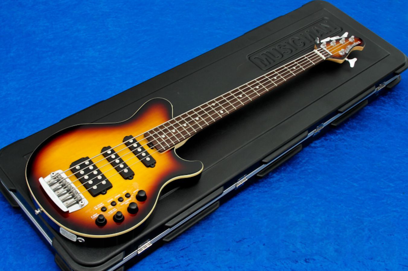 Music Man USA Reflex 5 HSS Bass VSB - Vintage Sunburst RW