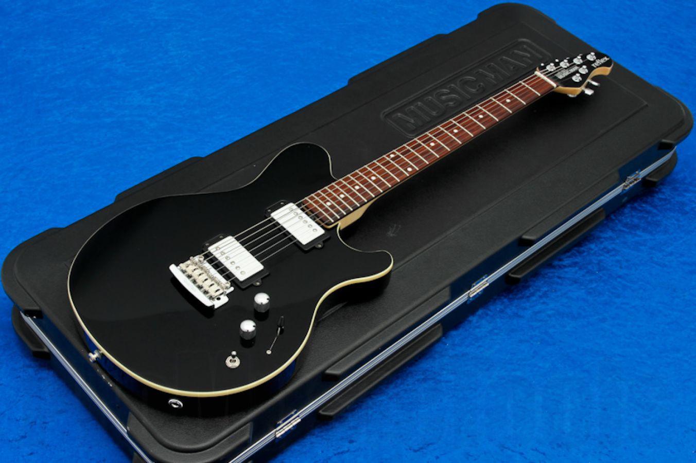 Music Man USA Reflex HH Trem Guitar BK - Black RW MH